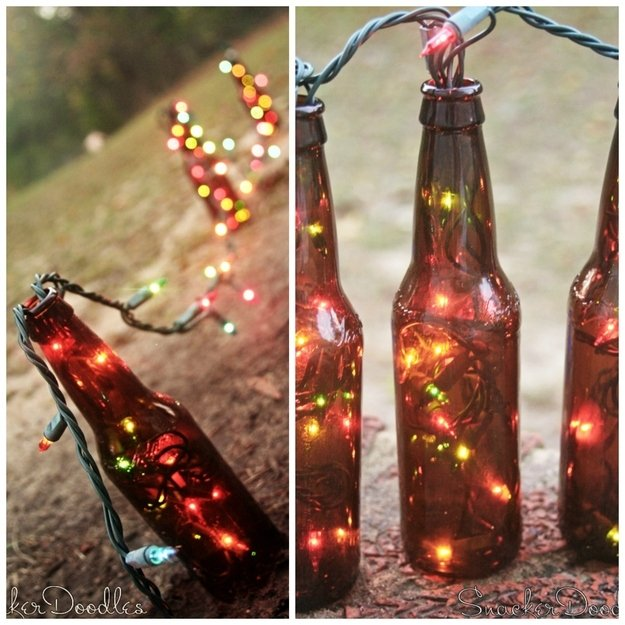 30 cool diy outdoor lighting ideas to brighten up your for Cool things to do with beer bottles