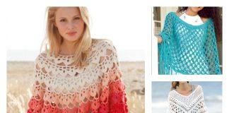 Summer Poncho Free Crochet Patterns