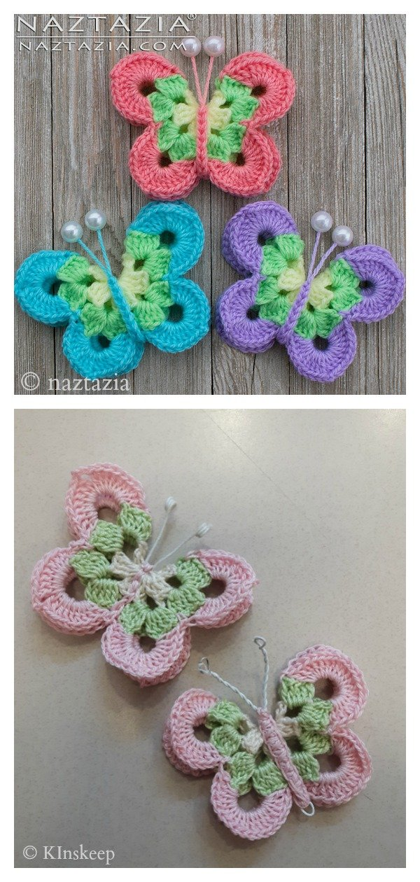 Sweet Simple Butterfly Free Crochet Pattern and Video Tutorial