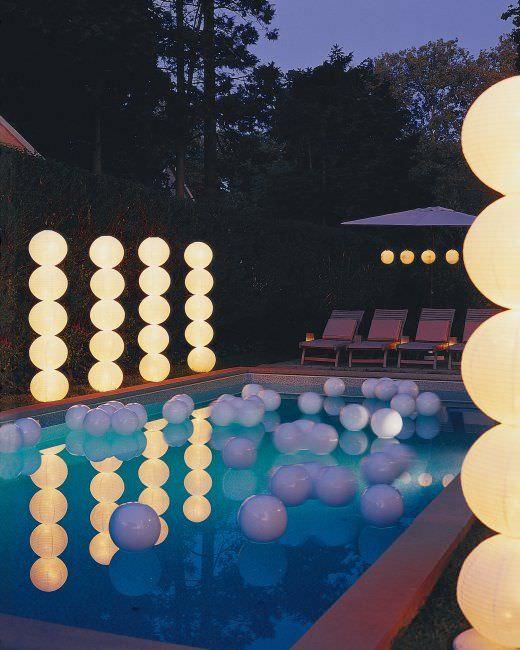 DIY geometric light columns