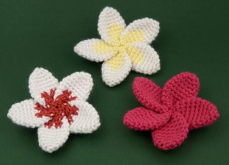 Crochet Hawaiian Plumeria Flower with Pattern