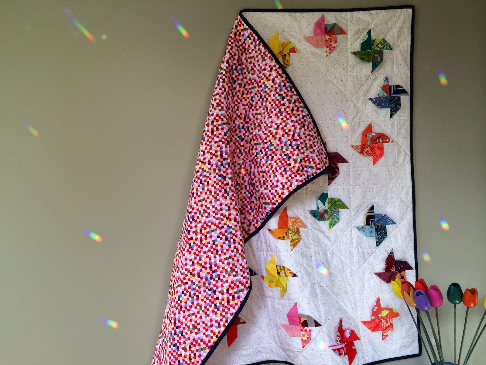 sewing 3D Pinwheels Quilt