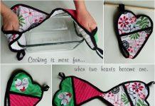 Handy Heart Shape Potholders Pattern