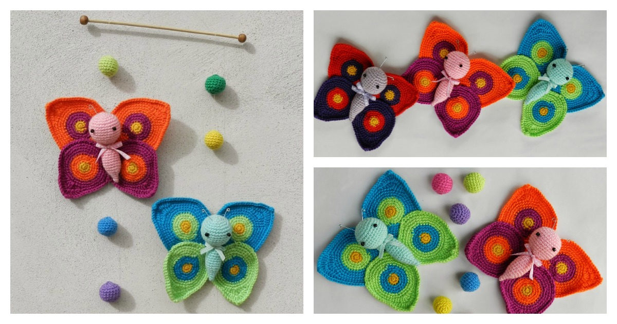 Crochet Beautiful Amigurumi Butterflies For Kids As Great
