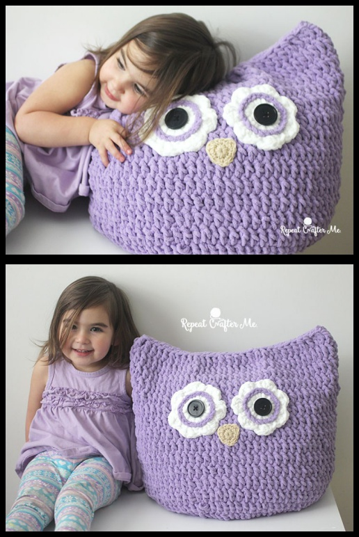 Free Owl Stuffed Cuddly Crochet Pattern : Cuddly Crochet Owl Pillow with Free Pattern Is Perfect For ...