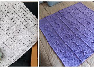 ABC Alphabet Afghan Baby Blanket Crochet Patterns