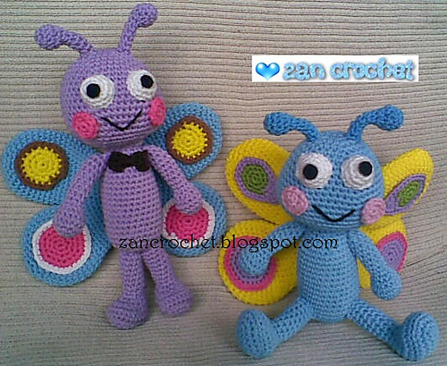 Crochet Beautiful Amigurumi Butterflies For Kids as Great ...