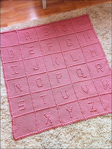 Crochet Pattern For Abc Baby Blanket : ABC Afghan Baby Blanket FREE Crochet Patterns