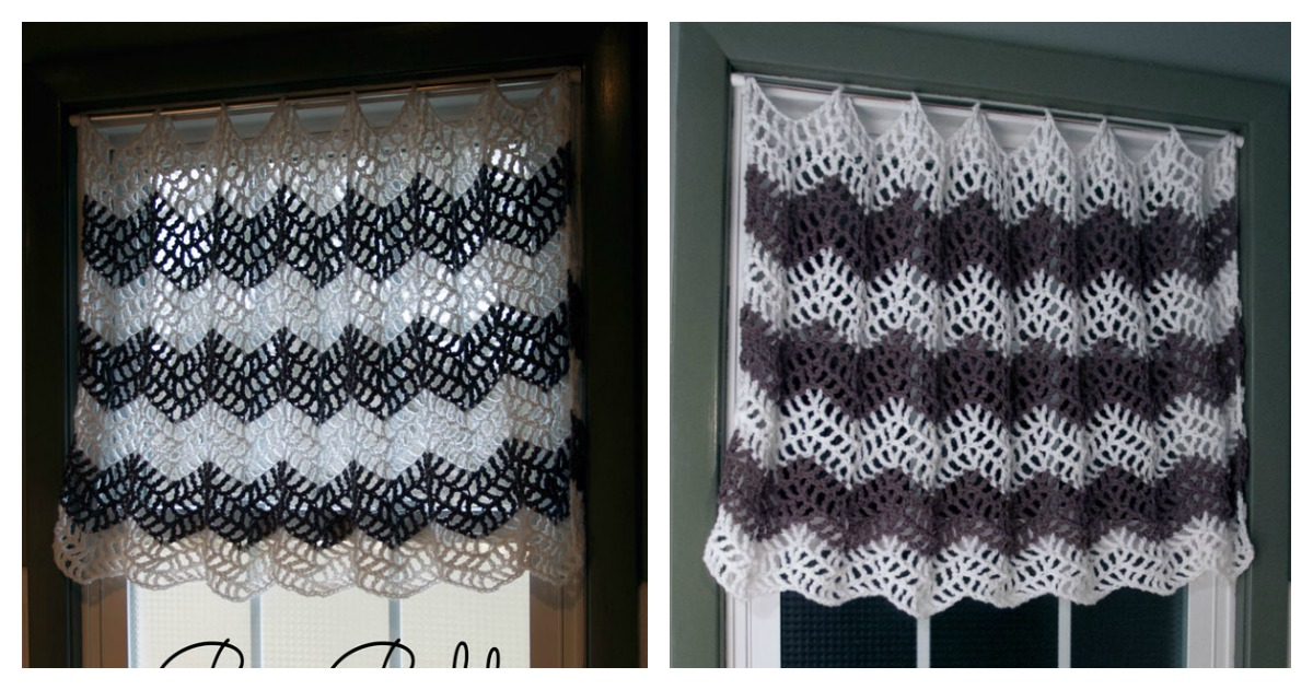 Big Bold Chevron Curtain FREE Crochet Pattern