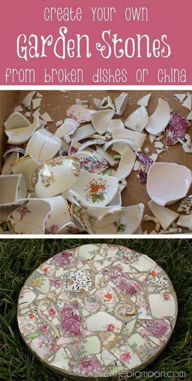 Broken China Mosaic Garden Stepping Stones