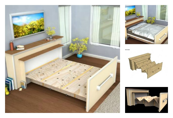 Log Bed Frame With Drawers