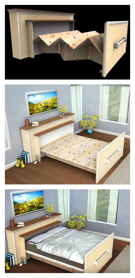 Make A Diy Built In Roll Out Bed You Have Never Thought Of