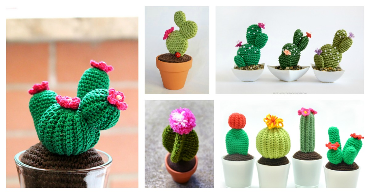 Amigurumi Cacti. Make these crochet bookends to decorate your home! | 631x1200