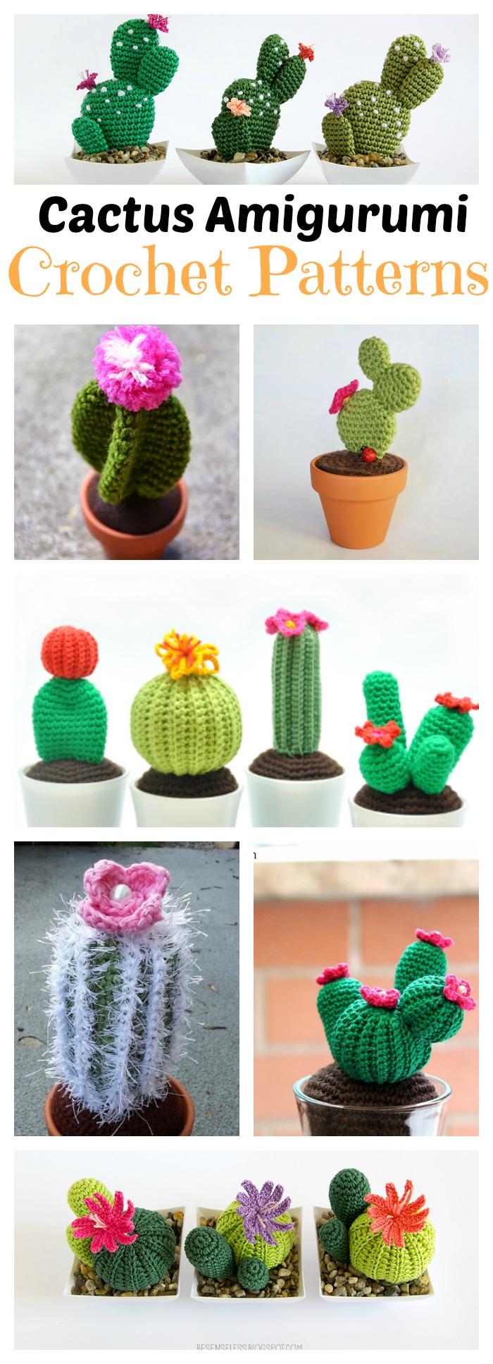10+ Desert Cactus Amigurumi Crochet Patterns