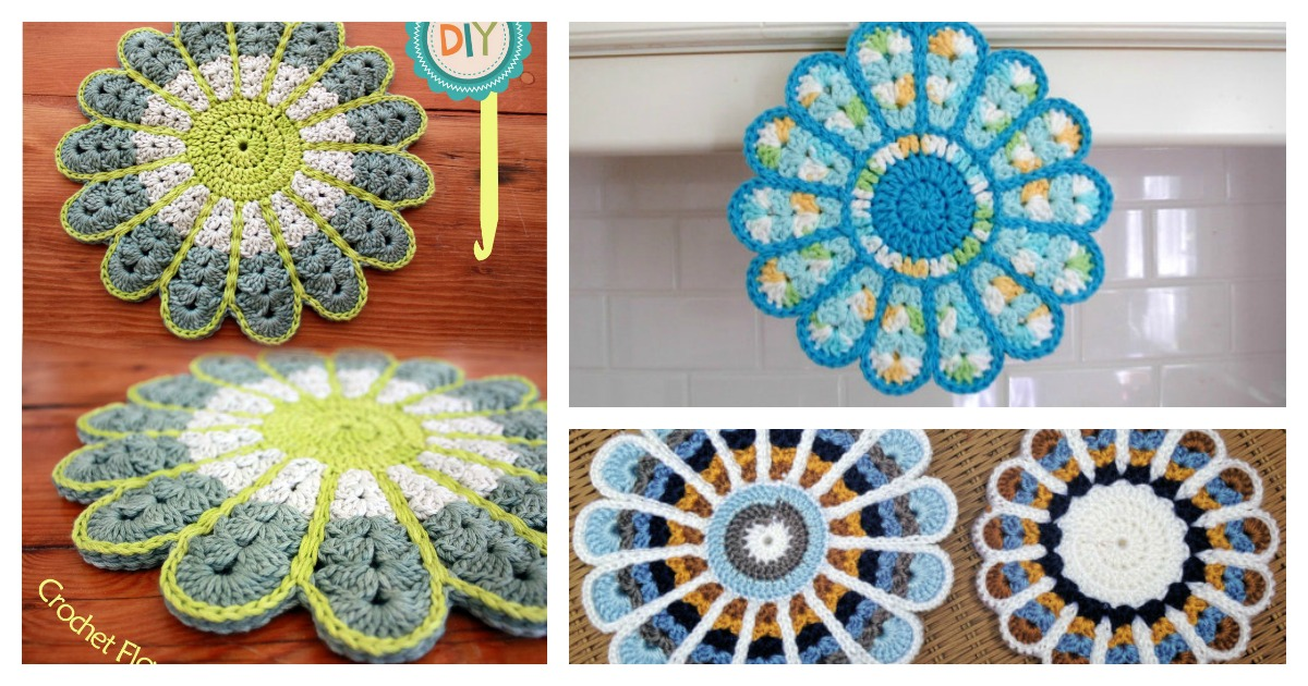 Crochet Flower Pot Pattern Free : Colorful Crochet Flower Pot Holder with FREE Pattern