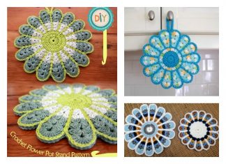 Crochet Flower Pot Holder With Free Pattern