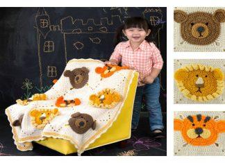 Crochet Mini ZOO Kids Blanket Free Pattern