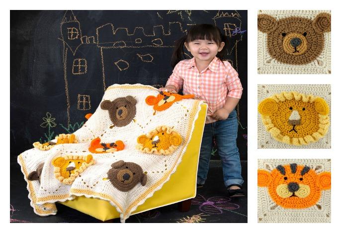 Crochet Mini ZOO Kids Blanket with Free Pattern