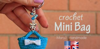 Crochet Miniature Bag Key Chain