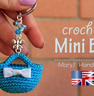 Crochet Miniature Bag Key Chain
