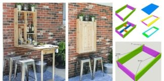 DIY Cool Fold-Down Outdoor Murphy Bar - Very Creative Idea