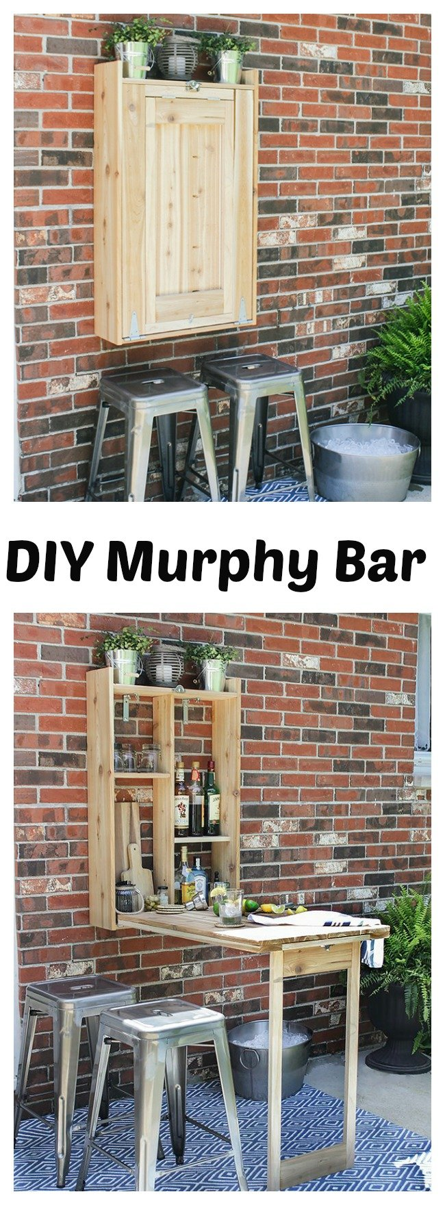 DIY Cool Fold-Down Outdoor Murphy Bar