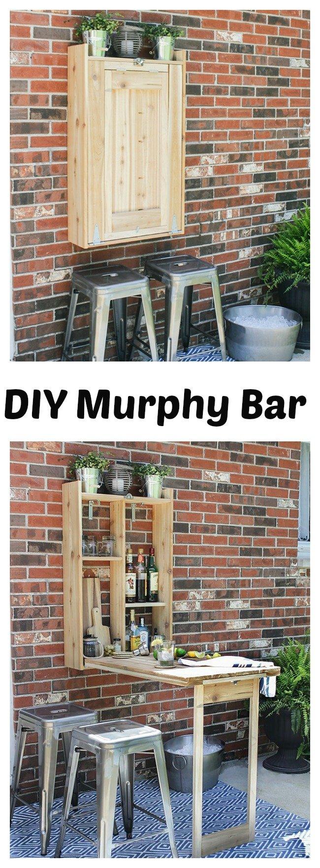 DIY Cool Fold-Down Outdoor Murphy Bar