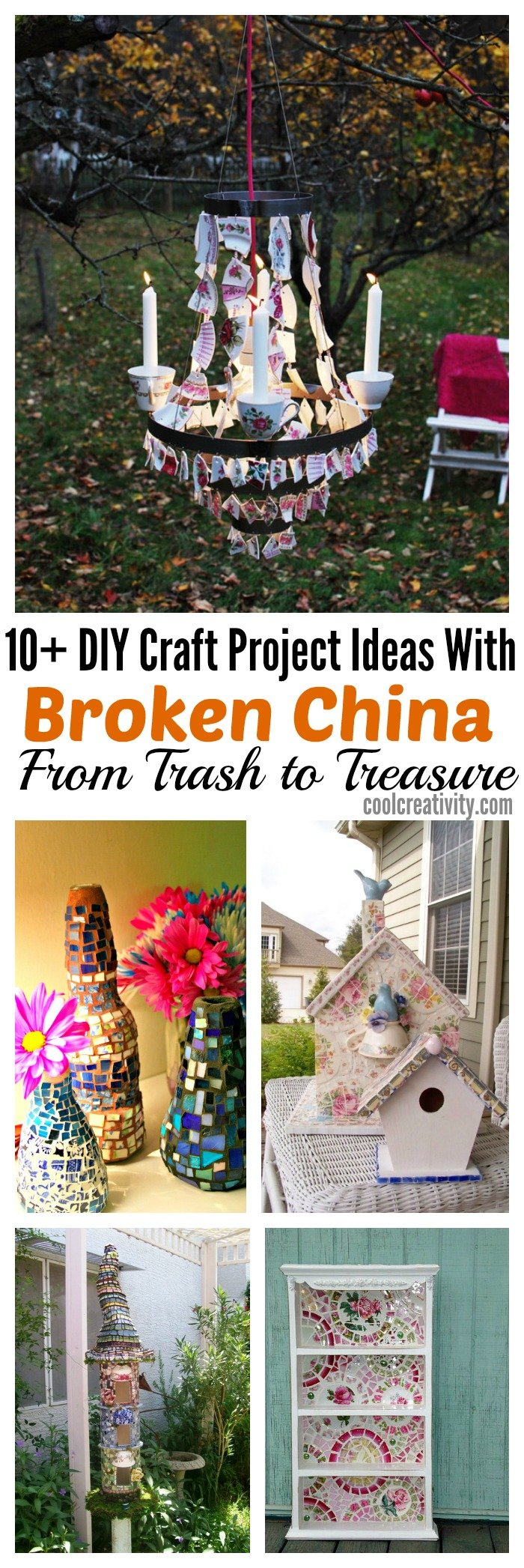 DIY Craft Project Ideas With Broken China