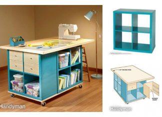 DIY Craft Room Table With Ikea Furniture Ikea Hackers