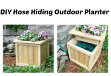 DIY Hose Hiding Outdoor Planter