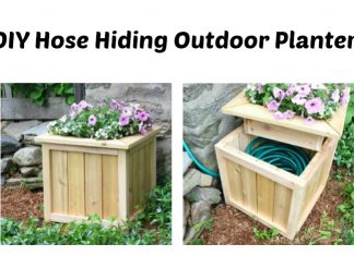 DIY Hose Hiding Outdoor Planter
