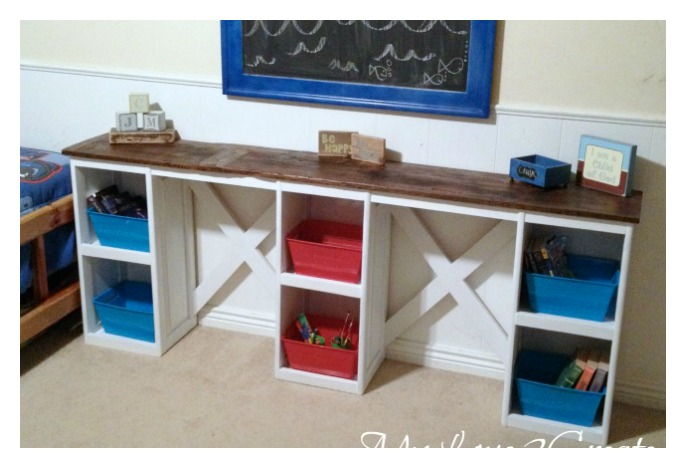 Diy Repurposed Cabinet Doors Into Children S Desk Cool Creativities