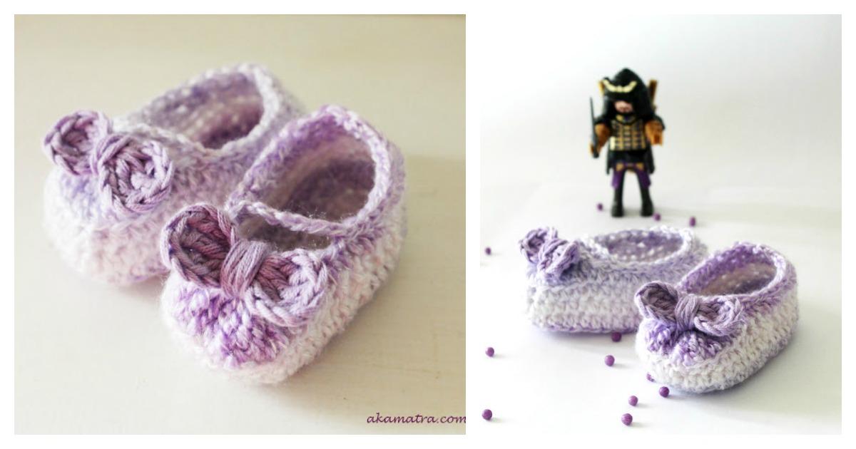 Cute Crochet Baby Girl Bow Booties Free Pattern | Free Baby Crochet ...