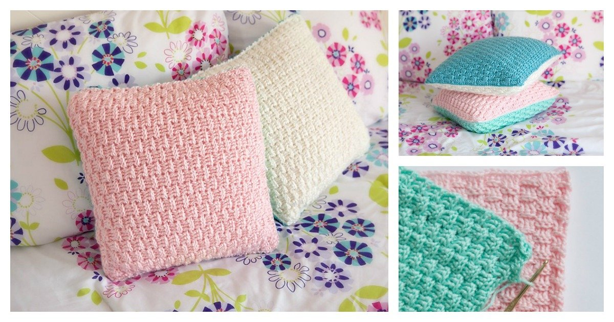Easy Throw Pillow Cover Pattern : Free Pillow Cover Crochet Pattern for Home Decorating
