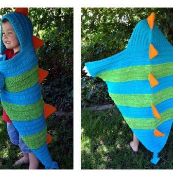 Hooded Dragon Blanket Crochet Pattern