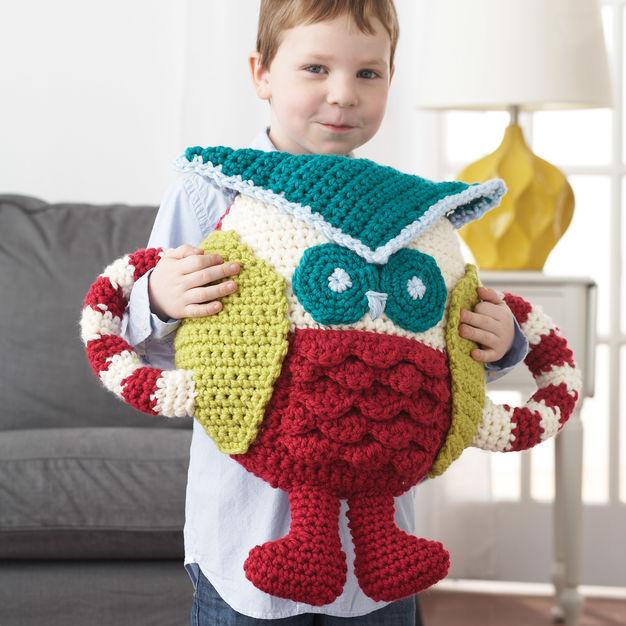 Huggable Owl Pillow Free Crochet Pattern