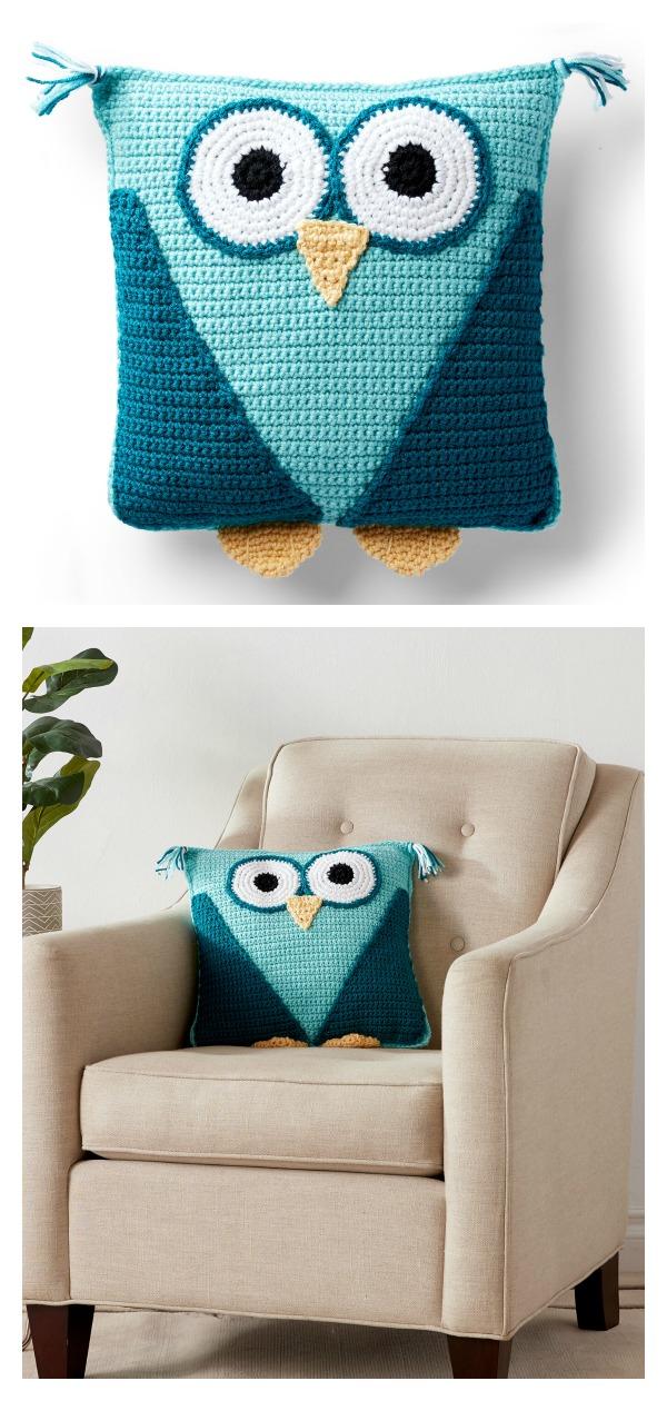 Owl Pillow Free Crochet Pattern