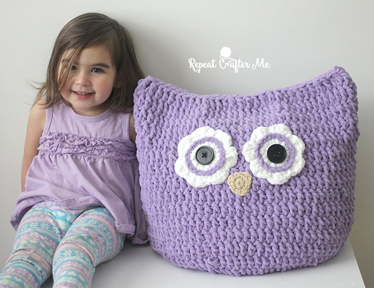 Crochet Oversized Owl Pillow Free Pattern Cool Creativities