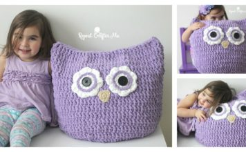 Cuddly Crochet Owl Pillow with Free Pattern Is Perfect For Snuggling