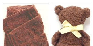 Towel Teddy Bear Tutorial