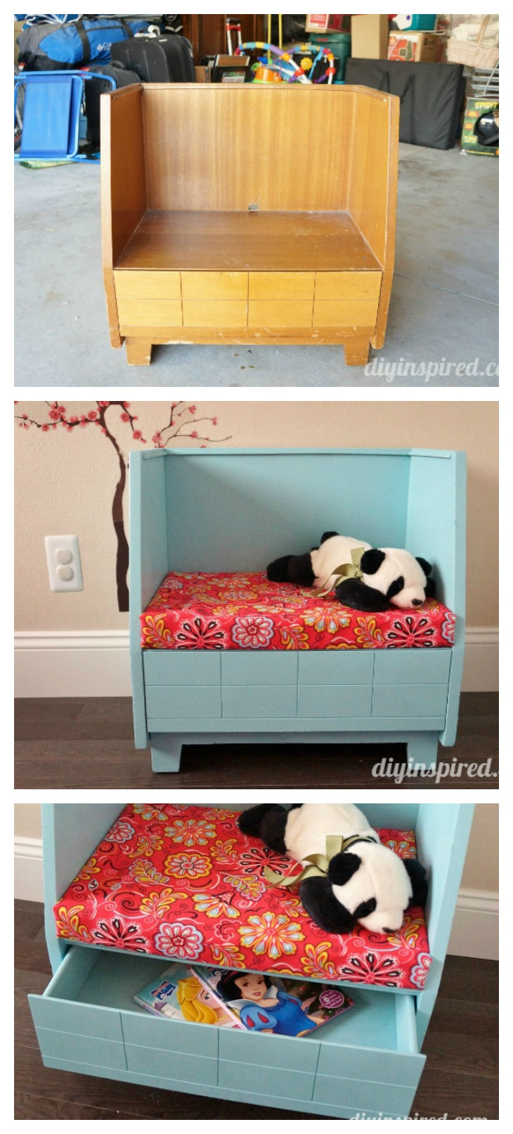 Turn Thrift Store Old Bench into a Kids Reading Nook, Bench for Reading
