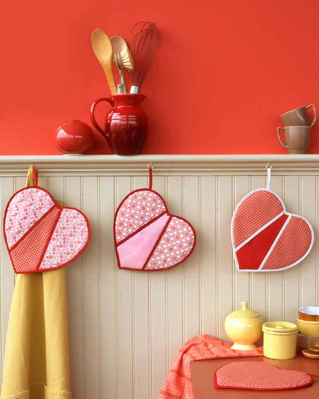 How to sewing Heart-Shaped Pot Holders