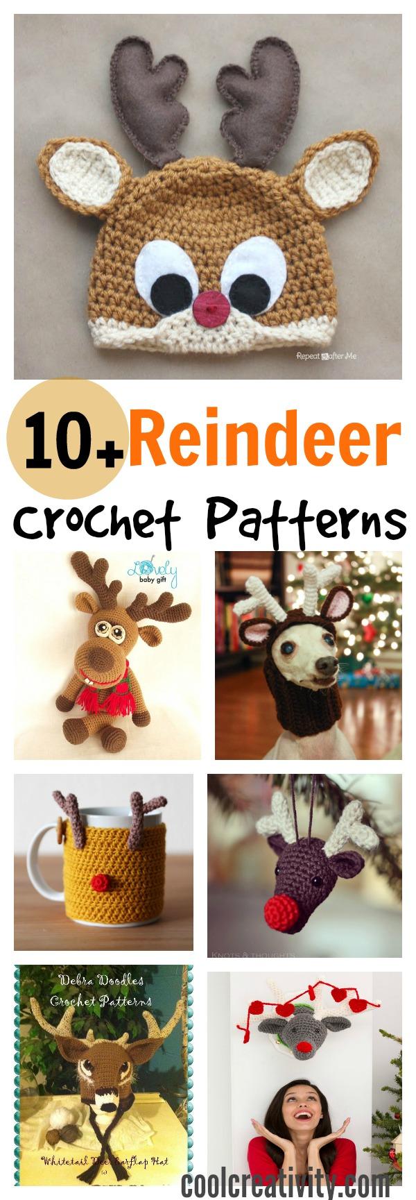 20 Crochet Reindeer Patterns