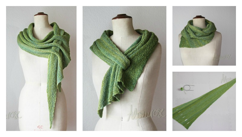 Free Shawl Knitting Patterns For Beginners : 10+ Keyhole Scarves and Shawl Knitting Patterns