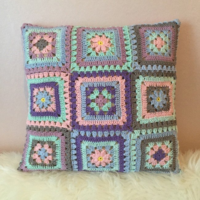 10 Free Gorgeous Pillow Crochet Patterns Two Granny Squares Pillow
