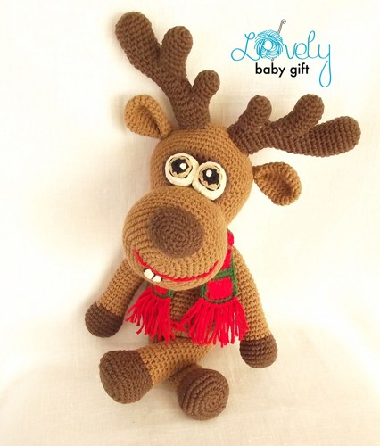 Free Crochet Patterns | Free Crochet Pattern Reindeer • Free ... | 500x426