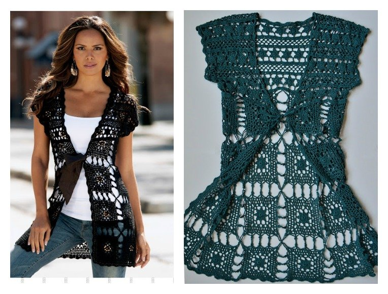 Beautiful Long Vest Free Crochet Pattern