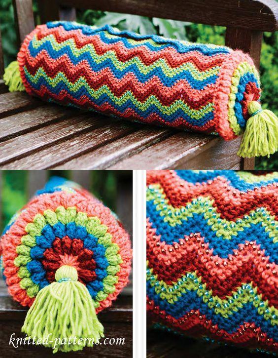 Colourful Cushion Pattern Free Crochet Pattern