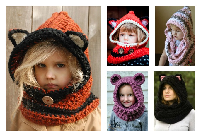 60 Crochet Hooded Scarves And Cowls Patterns Interesting Crochet Hooded Scarf Pattern