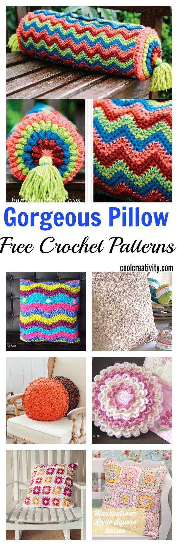 10 Free Gorgeous Pillow Crochet Patterns
